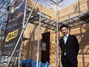 ホンカ・ログホーム 建て方 (4)