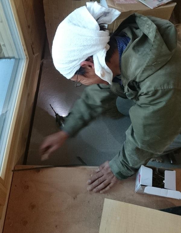 O様邸 木工事 框1