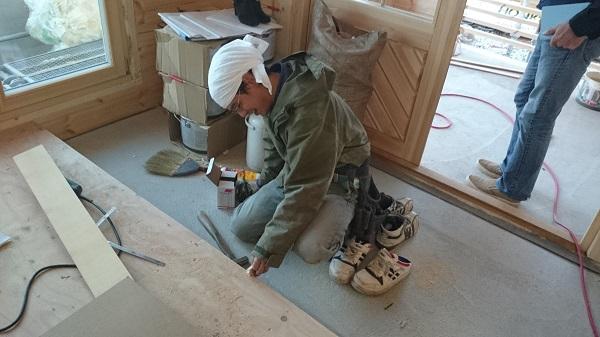 O様邸 木工事 框