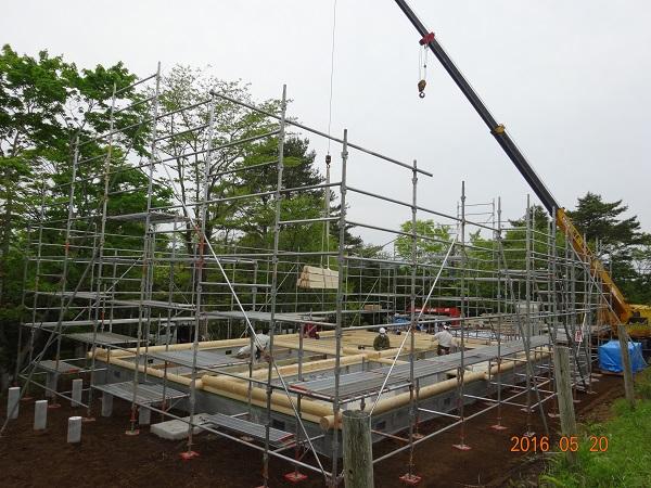 丸ログ 建て方工事3