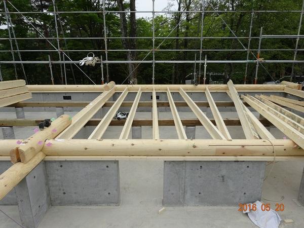 丸ログ 建て方工事4
