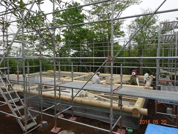 丸ログ 建て方工事