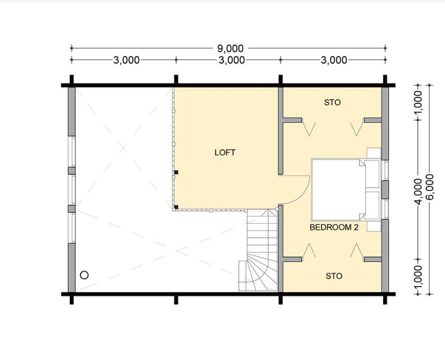 ホンカ タルモ2階平面図