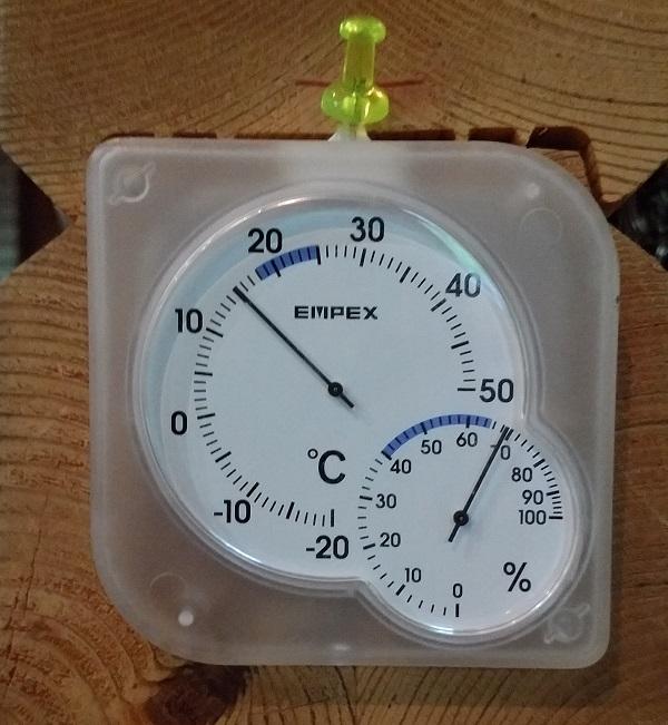 ログハウス協会 湿度計