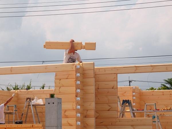 ログハウス 建て方