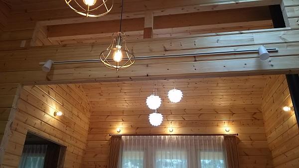 シバタ照明 ログハウス