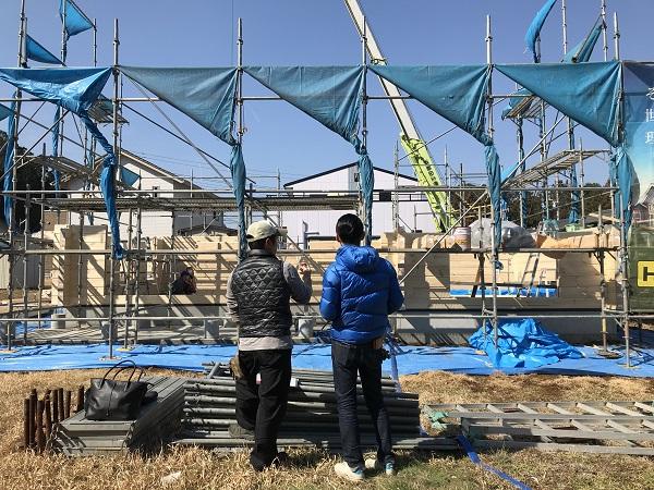 飯能市 ログ積み工事 (5)