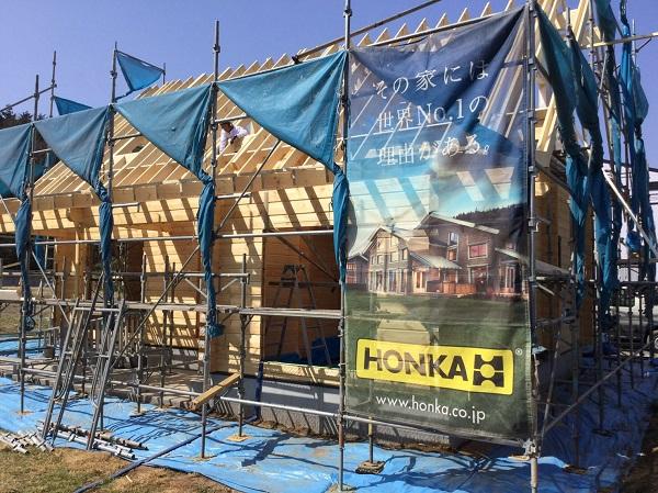 キグミ 建て方工事 屋根垂木