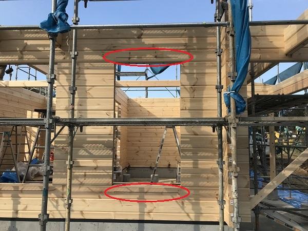 ログハウス建て方工事8