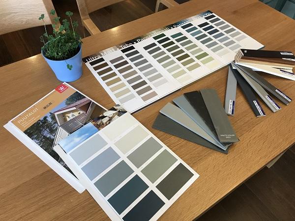 カラー 本物 木の家  ホンカ カラーサンプル