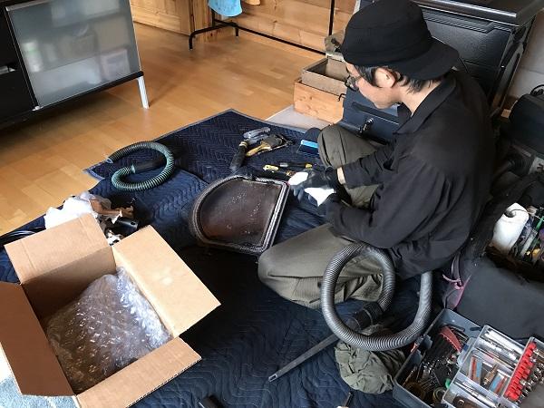 薪ストーブ 小俣邸 メンテナンス ホンカ