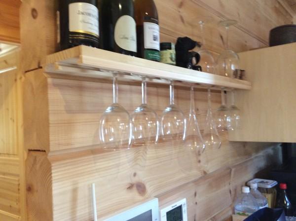 ワイングラス ログハウス